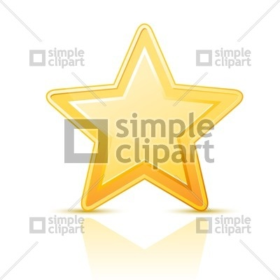 400x400 Golden Star Icon Vector Image