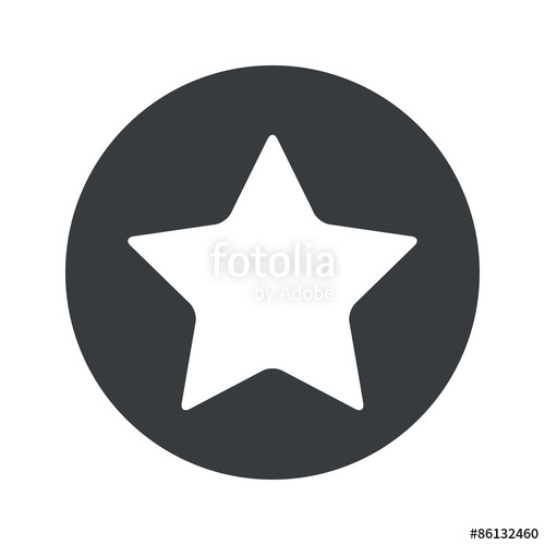 500x500 Monochrome Round Star Icon Stock Image And Royalty Free Vector