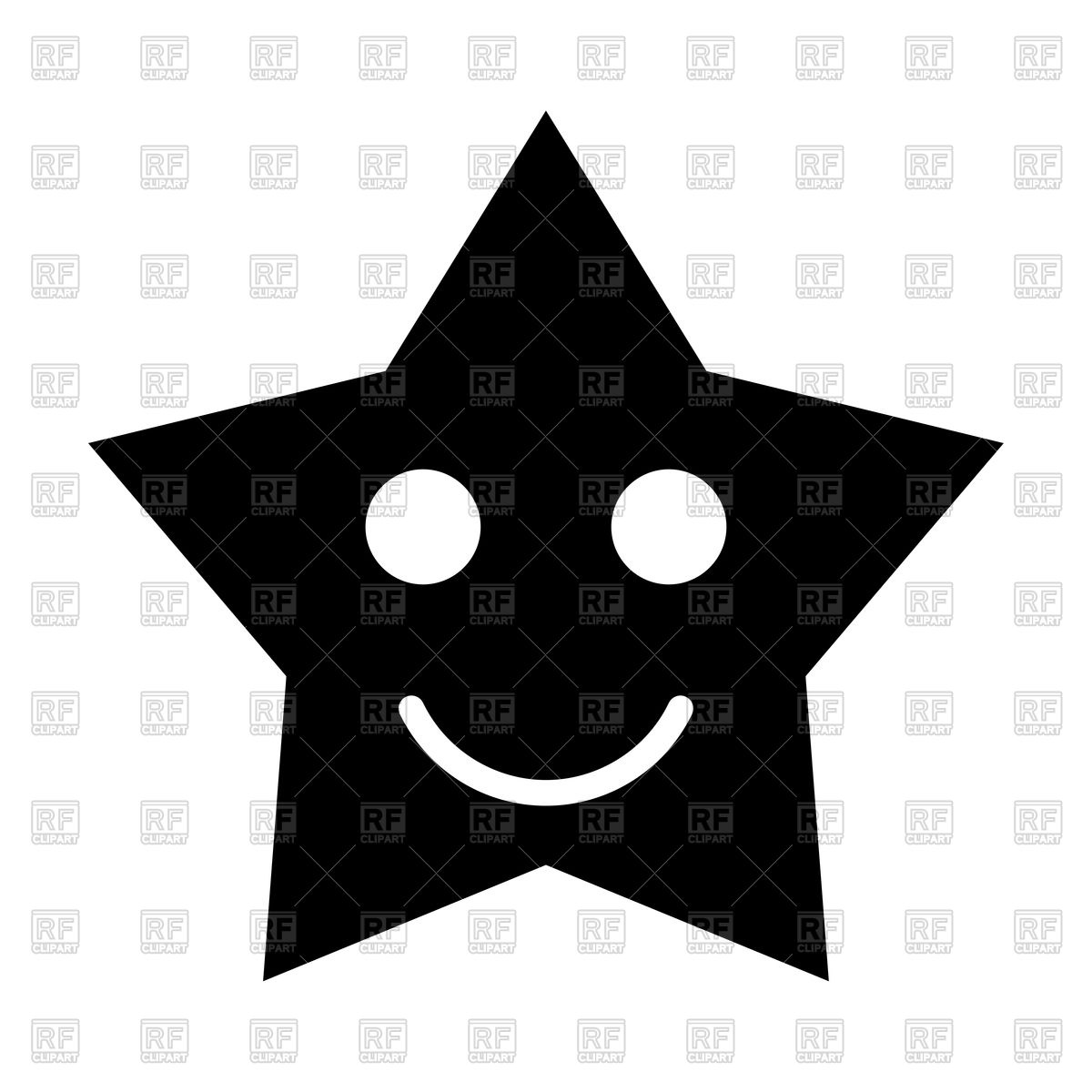 1200x1200 Smiling Star Black Icon Vector Image Vector Artwork Of Icons And