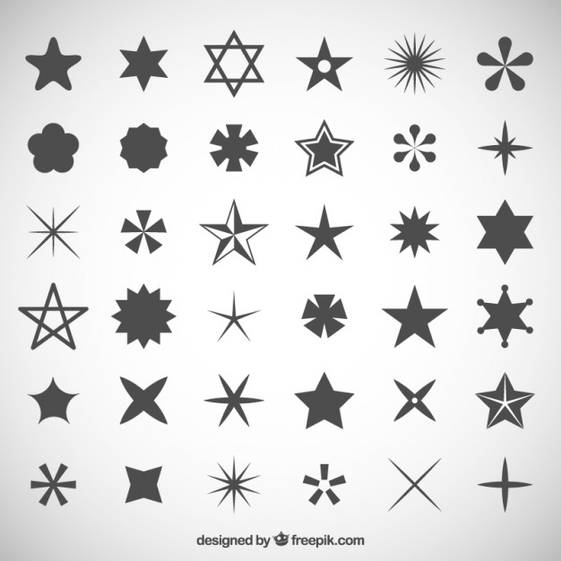 626x626 Star Icons Collection Vector Free Download