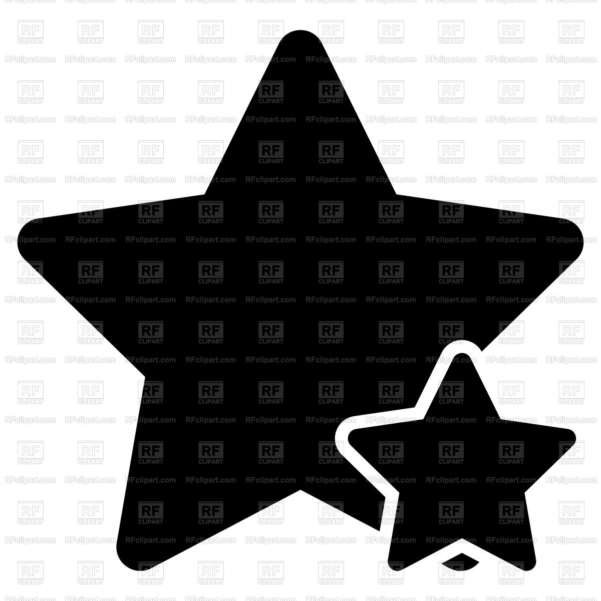 1200x1200 Two Black Stars Icon Flat Style Vector Image Vector Artwork Of