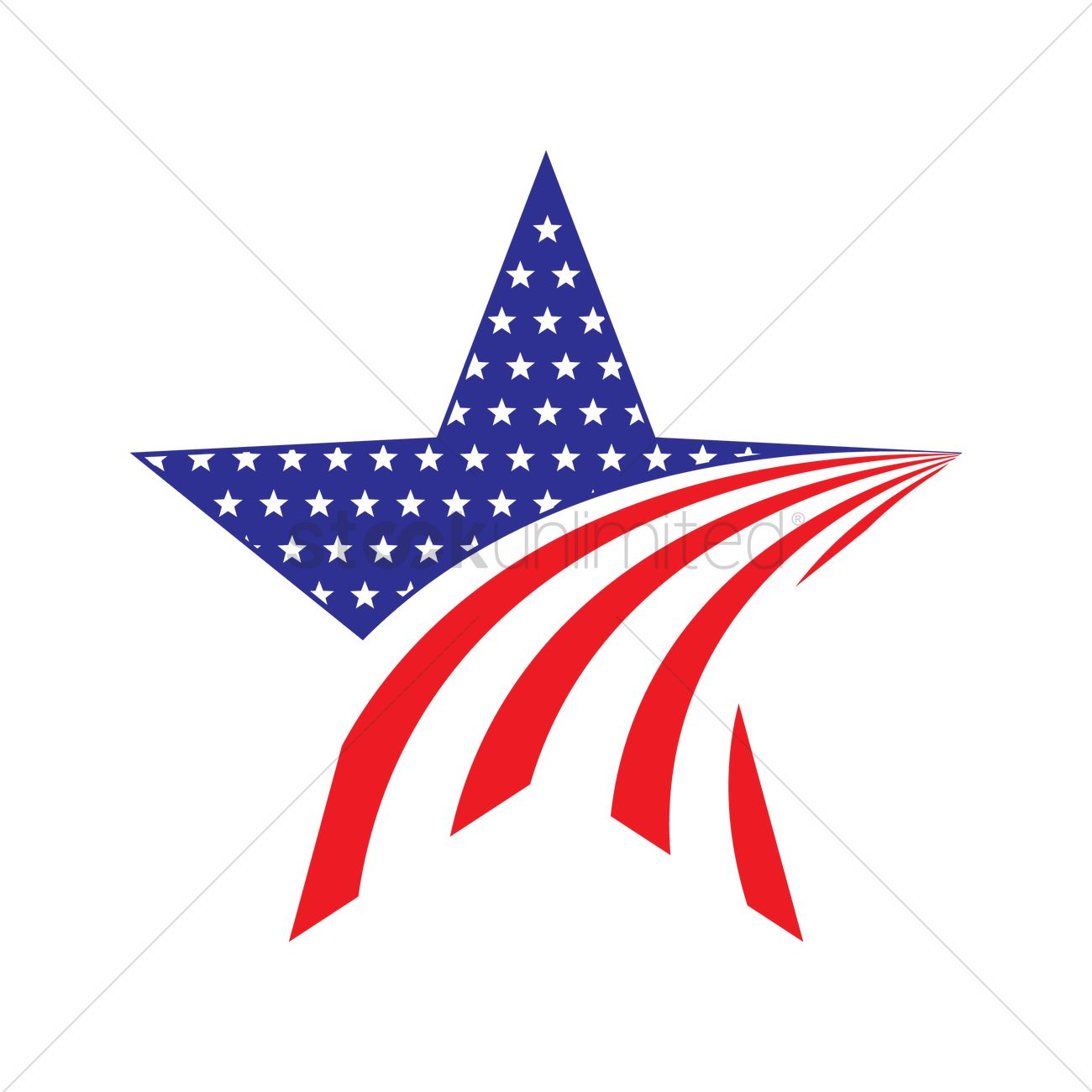 1300x1300 American Star Icon Vector Image
