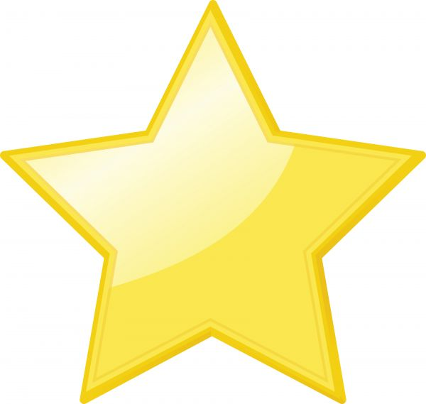 600x569 Yellow Star Icon Vector