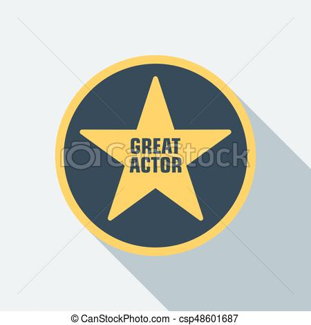 450x470 Cinema Star Icon. Film Award For The Best Film In The Form Of