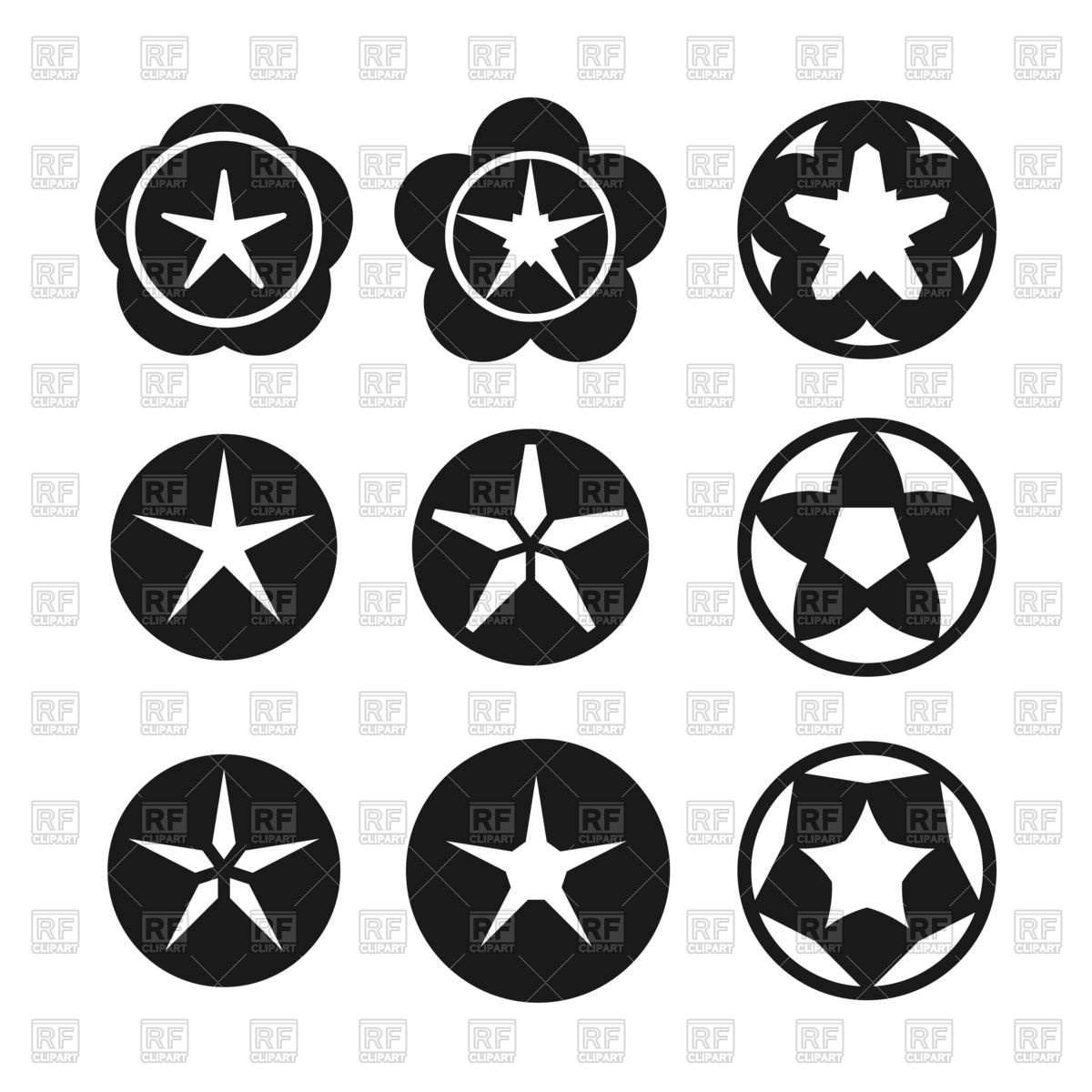 1200x1200 Dark Star Icon Set Vector Image Vector Artwork Of Icons And