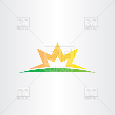 400x400 Half Star Sunset Logo Vector Image Vector Artwork Of Icons And