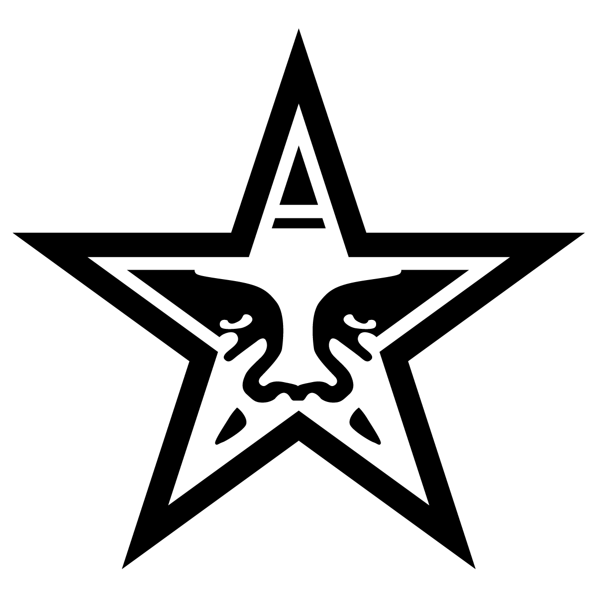 1200x1200 Obey Giant Star Black Logo Vector Free Vector Silhouette