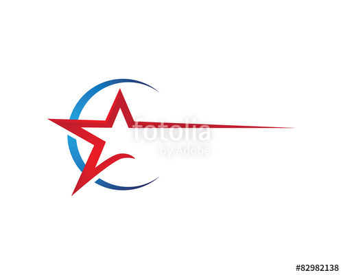 500x400 Red Star Logo Template Stock Image And Royalty Free Vector Files