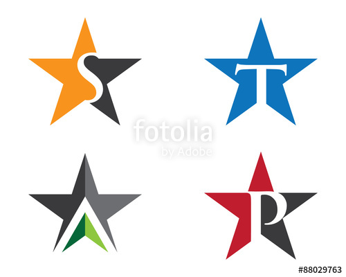 500x400 Star Letter Logo Symbol Stock Image And Royalty Free Vector Files