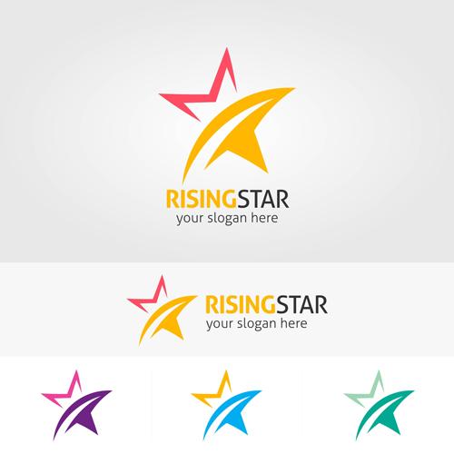 500x500 Abstract Star Logos Vector Set 03 Free Download