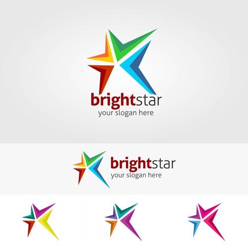 500x500 Abstract Star Logos Vector Set 05 Free Download