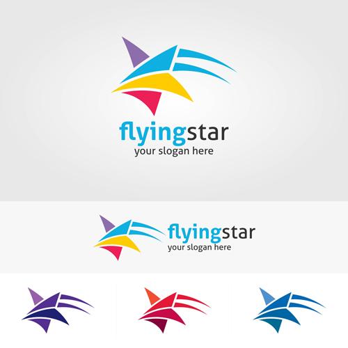 500x500 Abstract Star Logos Vector Set 06 Free Download