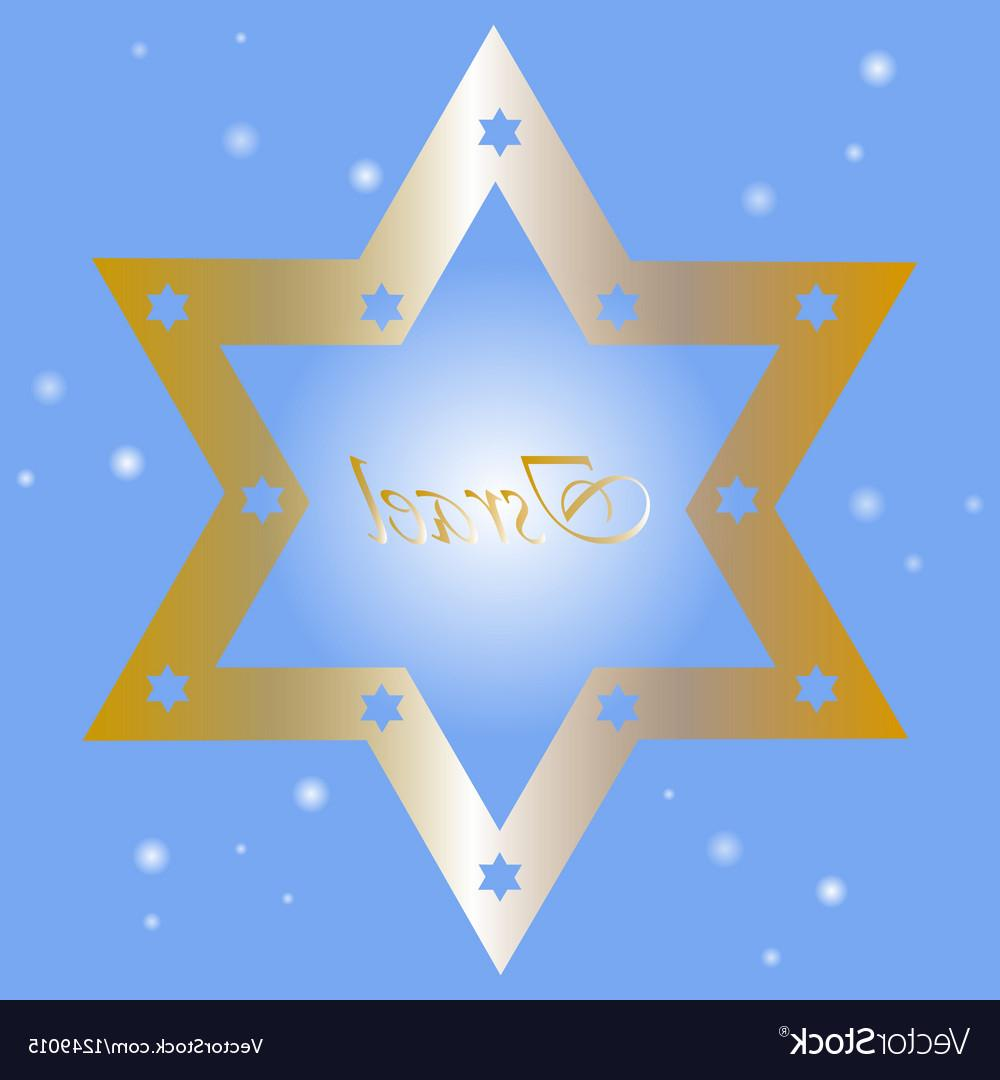 1000x1080 Best Hd Israel Background With Golden Star Of David Vector Library