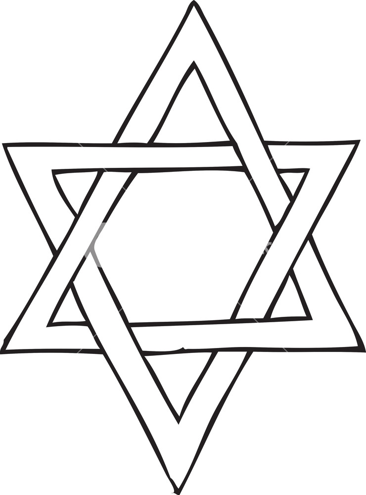 740x1000 Star Of David Vector Element Royalty Free Stock Image