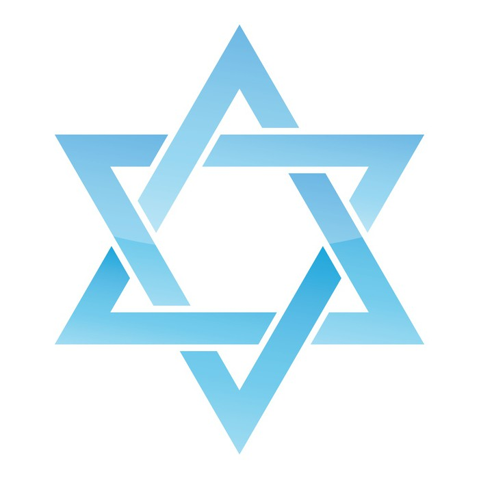 700x700 Star Of David. Vector Illustration. Wall Decal We Live