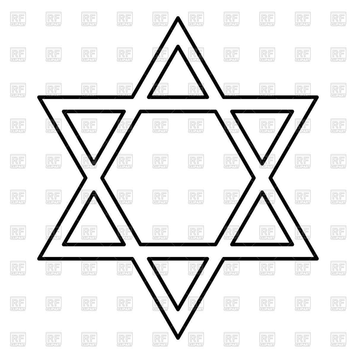 1200x1200 Jewish Star Of David Outline Vector Image Vector Artwork Of