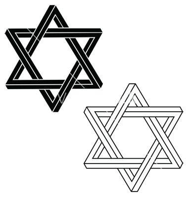 380x400 Jewish Star Of David Vector 328243