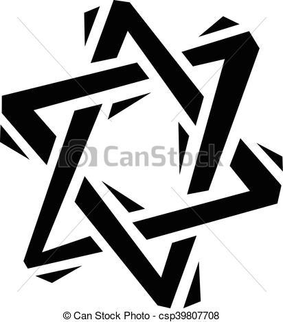 412x470 Jewish Star Of David.