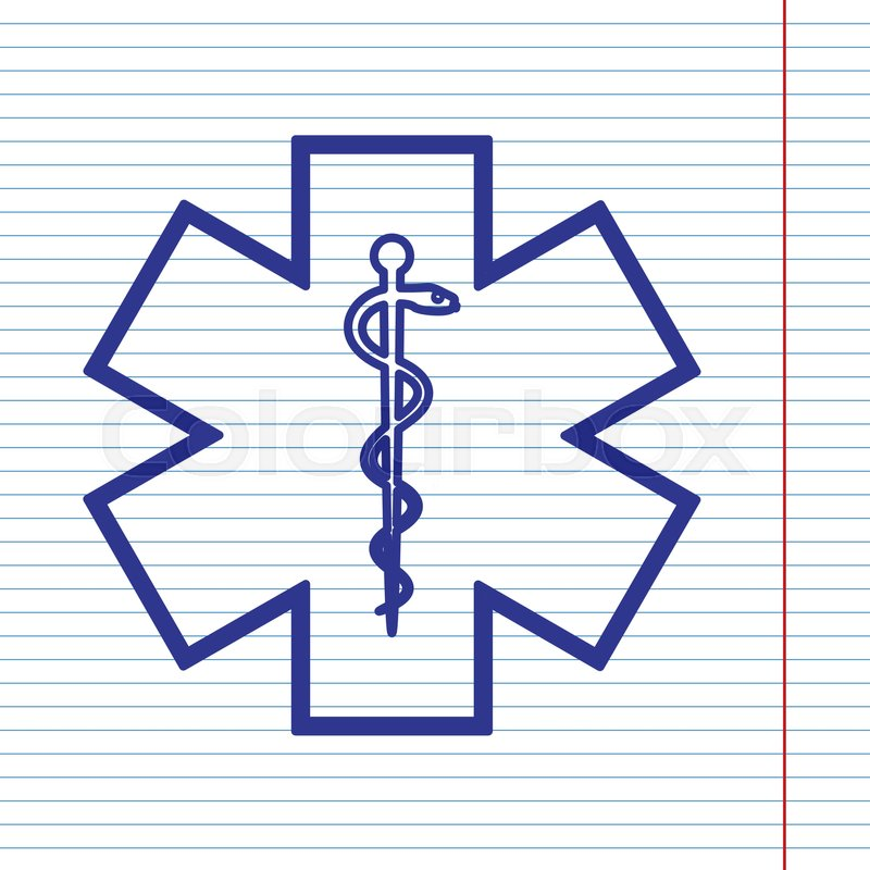 800x800 Medical Symbol Of The Emergency Or Star Of Life With Border