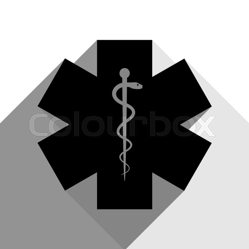 800x800 Medical Symbol Of The Emergency Or Star Of Life. Vector. Black