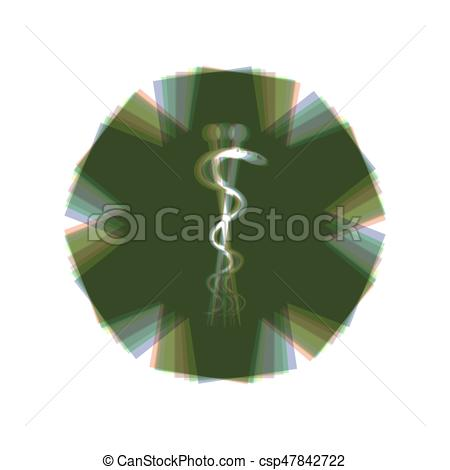 450x470 Medical Symbol Of The Emergency Or Star Of Life. Vector. Colorful