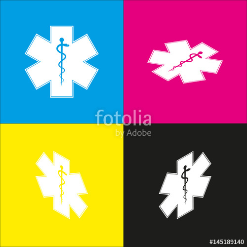 500x500 Medical Symbol Of The Emergency Or Star Of Life. Vector. White