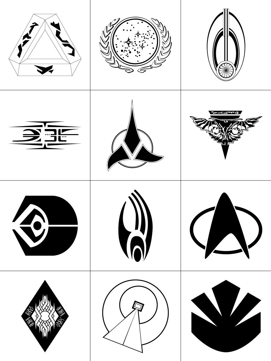 898x1198 Star Trek Symbols Jewelry Designs Logo Templates