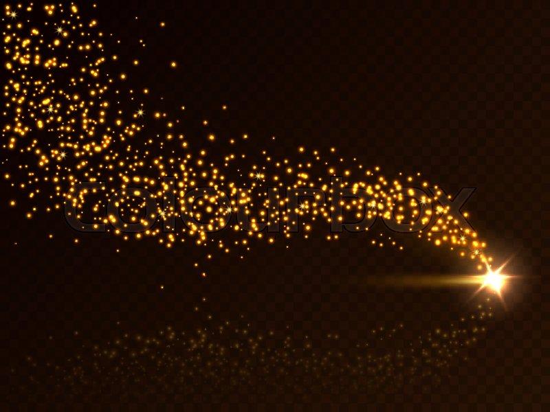 800x600 Falling Star Trail. Vector Falling Star, Meteorite Or Asteroid