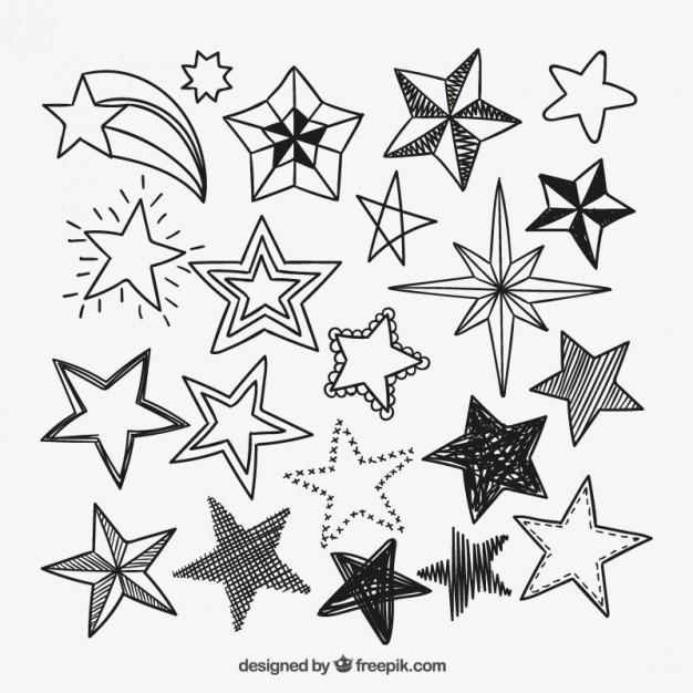 626x626 Drawn Star Vector Art