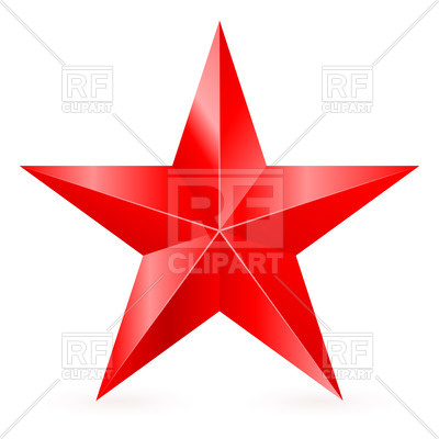 400x400 Five Pointed Red Star Vector Image Vector Artwork Of Design