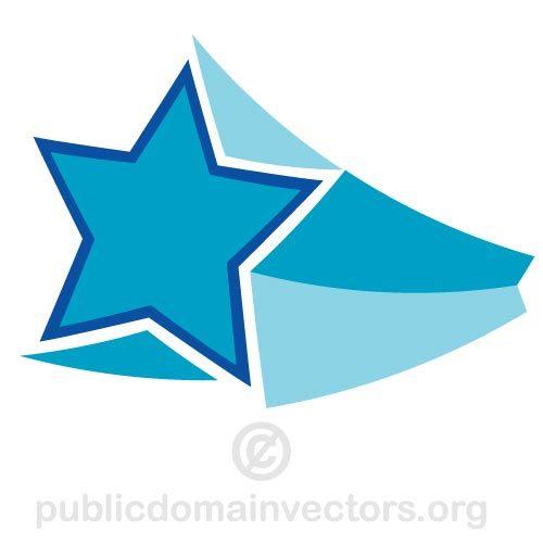500x500 Flying 3d Star Vector Clip Art Public Domain Vectors