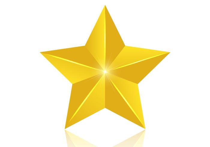 700x490 3d Golden Star Vector