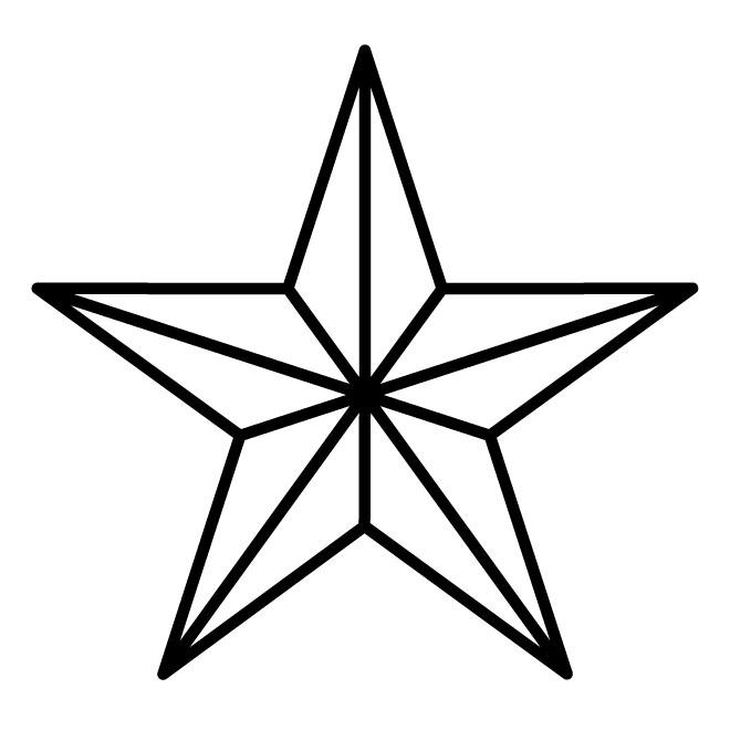 660x660 Military Star Vector