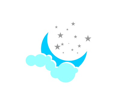 389x346 Moon And Stars Free Vector