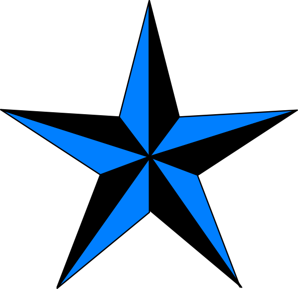600x582 Navy Blue Star Vector Black And White