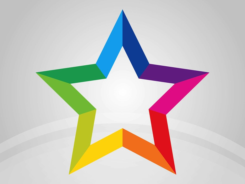 1024x768 Rainbow Star Vector Art Amp Graphics