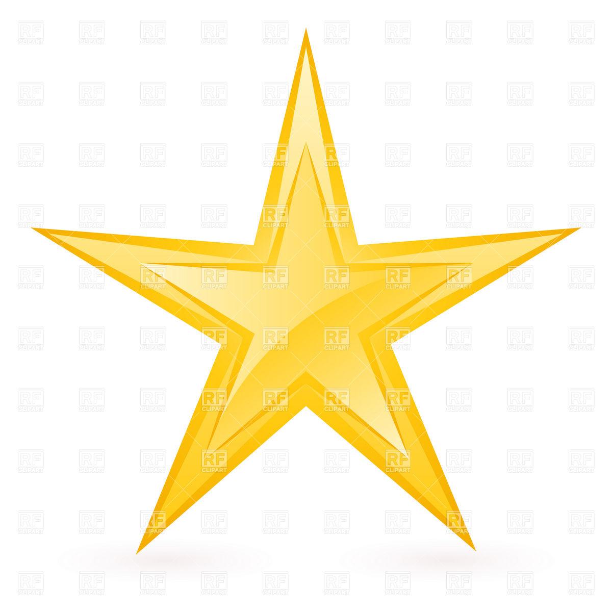 1200x1200 Shiny Thin Golden Star Vector Image Vector Artwork Of Signs