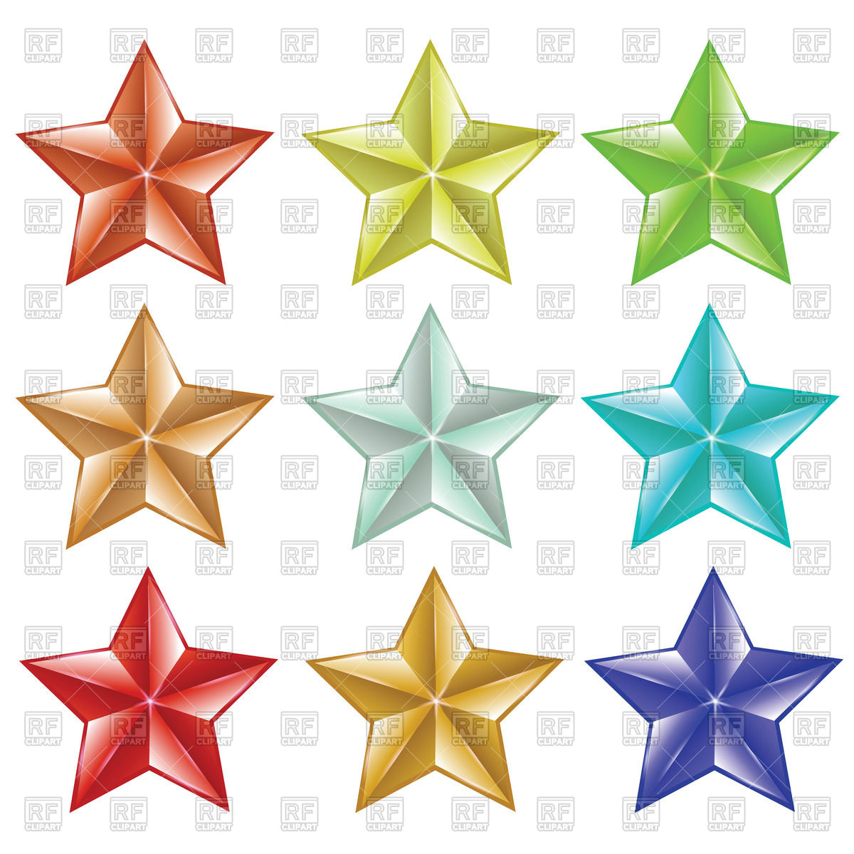 1200x1200 Colorful Stars Vector Image Vector Artwork Of Objects Valeo5