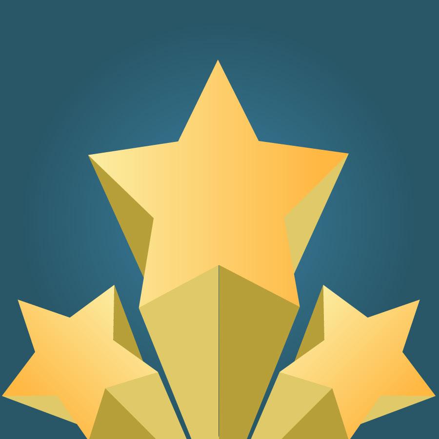 900x900 Clip Art Star 3d Vector Free