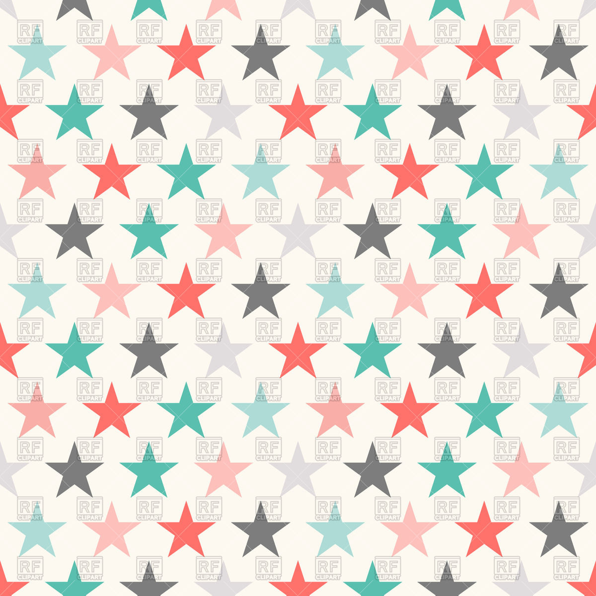 1200x1200 Colorful Seamless Pattern With Stars Vector Image Vector Artwork