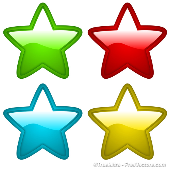 600x598 Download Free Gold Star Coins Vector Illustration