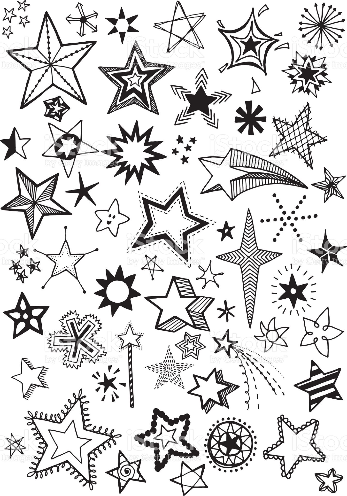 1433x2048 Quirky And Fun Hand Drawn Star Vector Shapes In 2018 Doodles