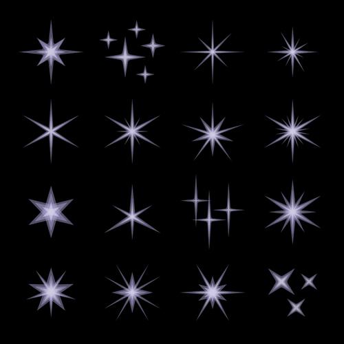 500x500 Shining Star Light Illustration Vector 01 Free Download