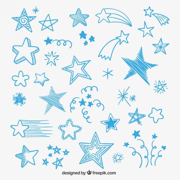 626x626 Sketchy Stars Vector Free Download