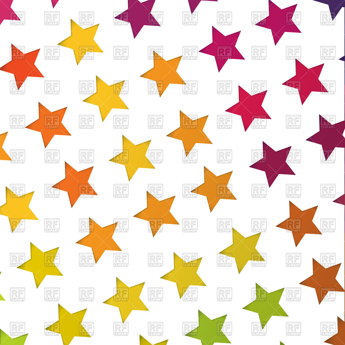 1200x1200 Abstract Background With Colorful Stars Vector Image Vector