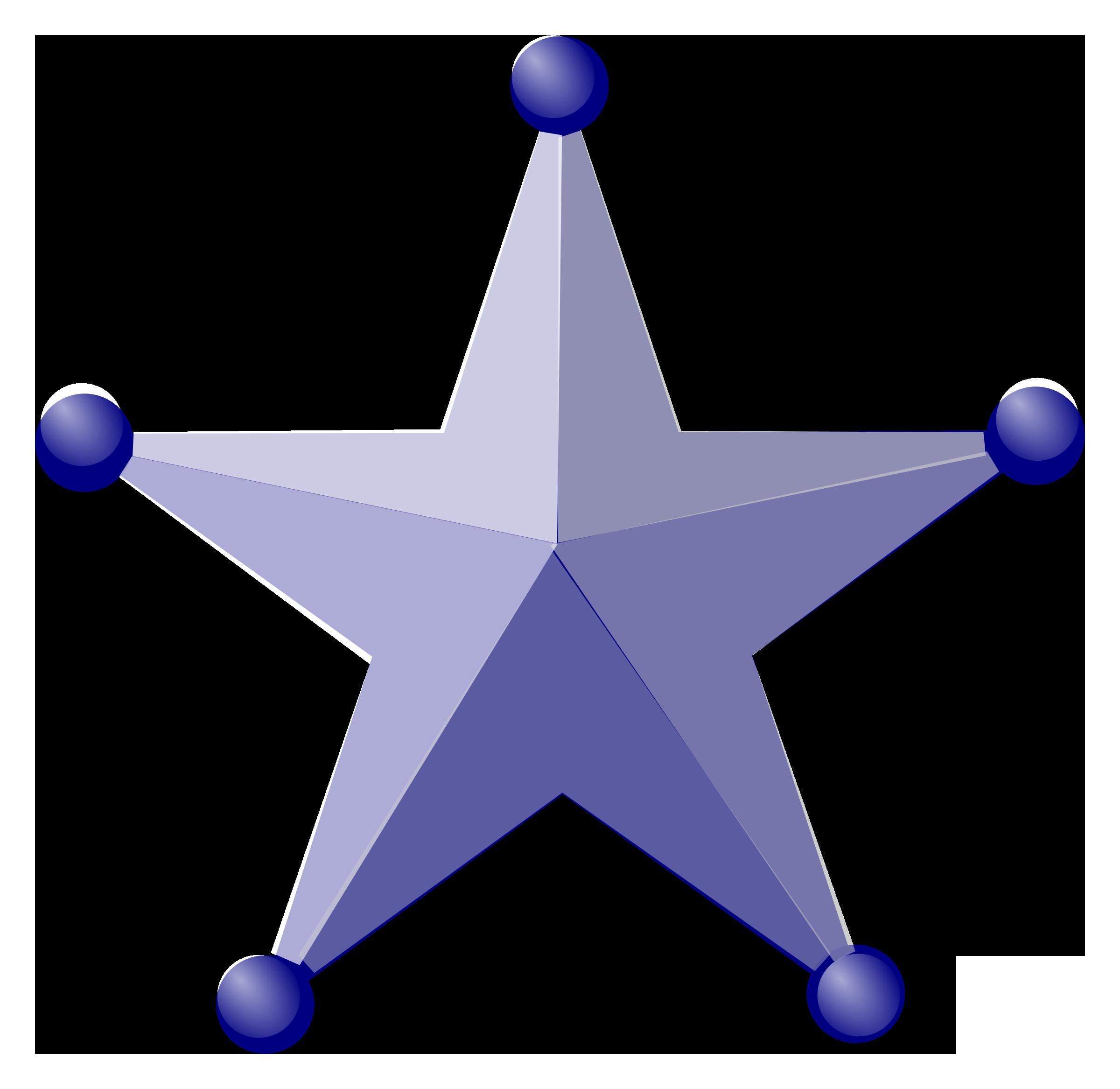 2400x2333 Blue 3d Star Vector Clipart Image