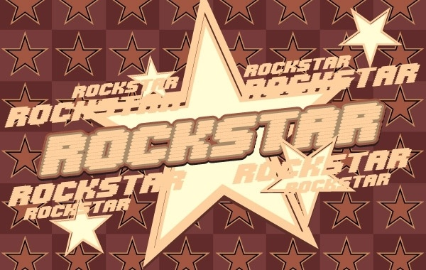 600x380 Rock Star Vector Graphic Free Vector In Coreldraw Cdr ( .cdr