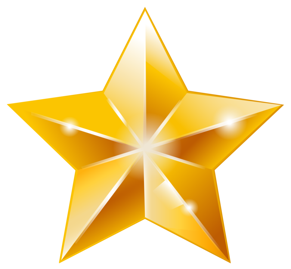 930x860 Golden Star Vector Done In 2015, Via Illustrator. Created It As