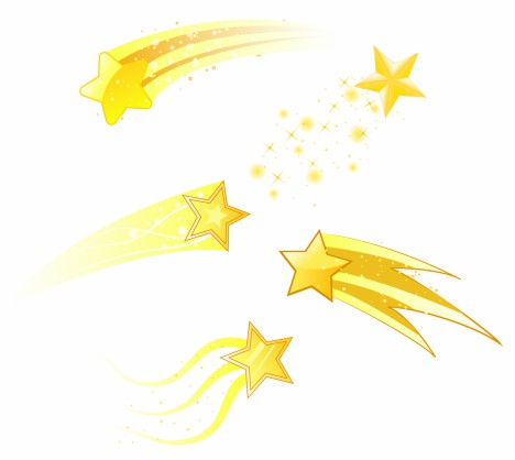 468x418 Shooting Stars Vectors Stock In Format For Free Download 1.67mb