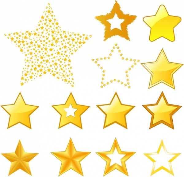 600x576 Star Icons Free Vector In Adobe Illustrator Ai ( .ai